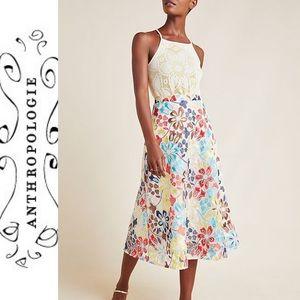 Anthropology Eva Franco Meghan Embroidered Skirt
